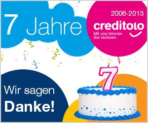 7 Jahre creditolo: Wir sagen Danke!