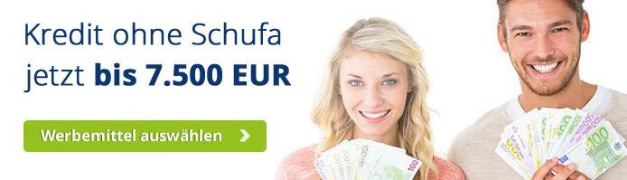 Kredit ohne Schufa jetzt bis 7.500 EUR