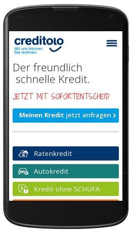 Ab sofort ist der gesamte Internetauftritt von www.creditolo.de auch für mobile Endgeräte (Smartphone, Tablets) optimiert