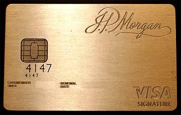Dieses schmucke Kreditkarte besteht aus Palladium und 24-Karat Gold