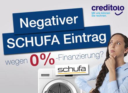 Negativer SCHUFA Eintrag wegen 0-Prozent-Finanzierung