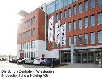 Die Schufa Zentrale in Wiesbaden. Bildquelle Schufa Holding AG
