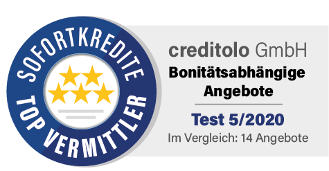 Studie: creditolo Sofortkredite sind top