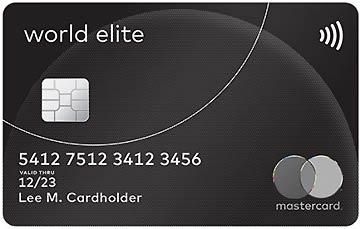 World Elite ist die beste Kreditkarte, die MasterCard anbietet.